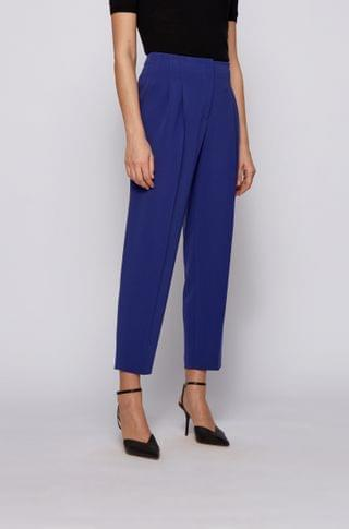 WOMEN Cropped regular-fit pants in Japanese stretch crepe