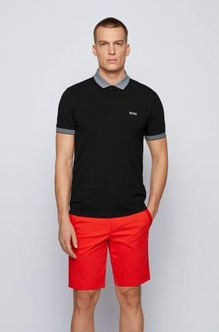MEN Stretch-cotton polo shirt with chest logo