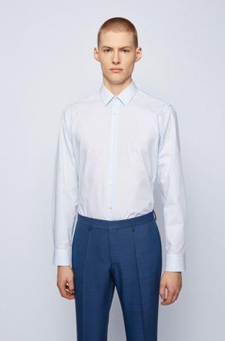 MEN Regular-fit shirt in easy-iron dobby cotton