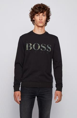 MEN Relaxed-fit cotton sweatshirt with logo and embroidery