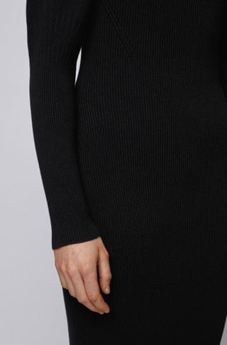 WOMEN Long-sleeved knitted dress with LENZING ECOVERO
