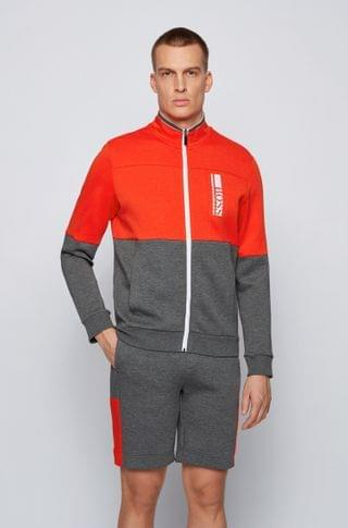 MEN Regular-fit sweatshirt with color-block logo embroidery