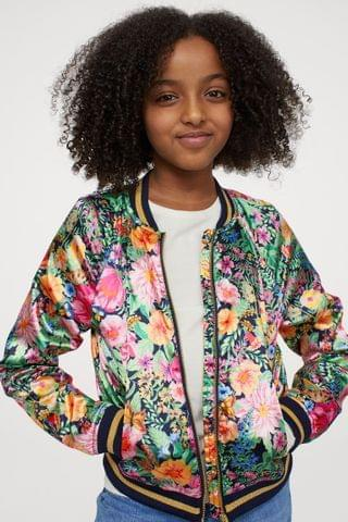 KIDS Satin Bomber Jacket