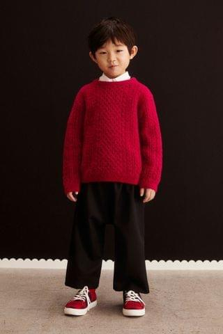 KIDS Wool-blend Cable-knit Sweater