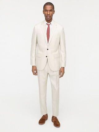 MEN Ludlow Slim-fit suit jacket in Italian wool-linen-silk