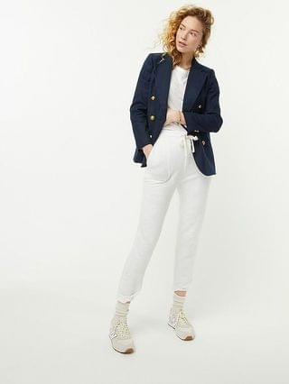 WOMEN Double-breasted blazer in stretch linen
