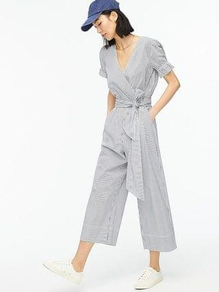 WOMEN Ruffle stretch cotton poplin jumpsuit
