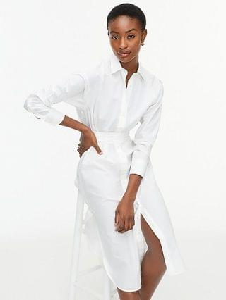 WOMEN Relaxed-fit crisp cotton poplin shirtdress