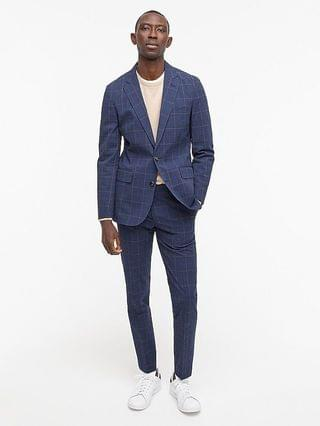 MEN Ludlow Slim-fit unstructured suit jacket in Italian stretch seersucker
