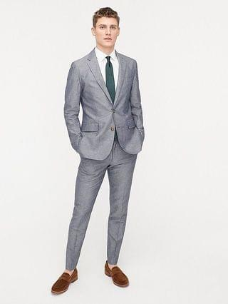 MEN Ludlow Slim-fit unstructured suit jacket in Irish cotton-linen