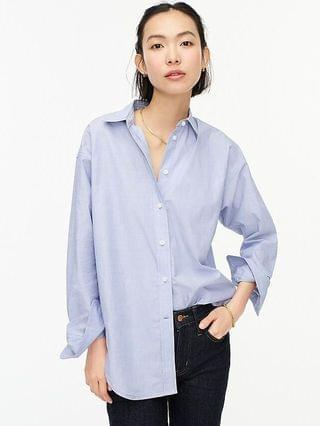 WOMEN Relaxed-fit end-on-end cotton shirt
