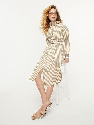 WOMEN Relaxed-fit crisp cotton poplin shirtdress in stripe
