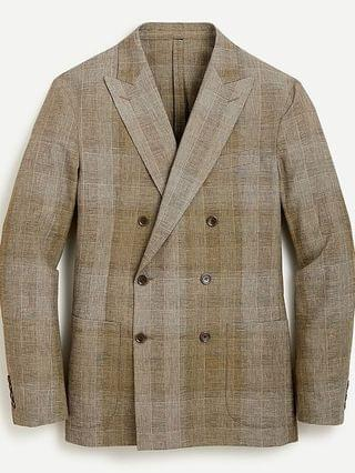 MEN Ludlow Slim-fit suit jacket in Japanese cotton-linen