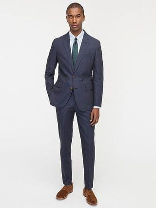 MEN Ludlow Slim-fit suit jacket in Portuguese cotton-linen