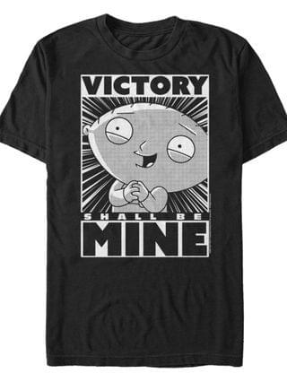 MEN Family Guy Stewie Victory Short Sleeve T-shirt