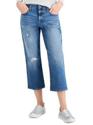 WOMEN Distressed Curvy-Fit Capri Jeans Created for Macy's