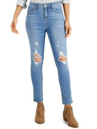WOMEN Petite Ripped Skinny Ankle Jeans Created for Macy's