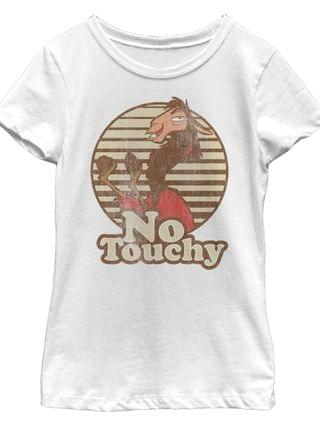 KIDS Big Girls the Emperor's New Groove No Touchy Short Sleeve T-shirt