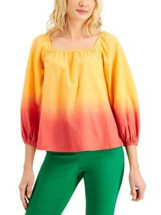WOMEN Petite Square-Neck Ombr Top Created for Macy's