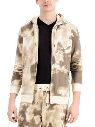 MEN INC Men's Chartered Printed Hoodie Created for Macy's