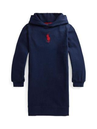 KIDS Big Girls Big Pony Fleece Hoodie Dress