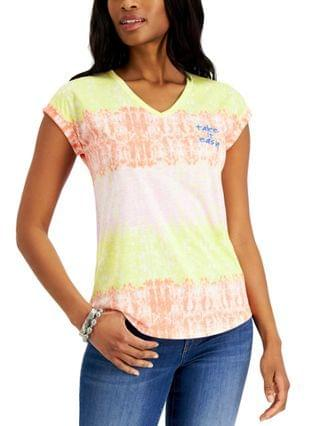 WOMEN Petite Take It Easy Graphic-Print Top Created for Macy's