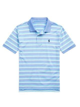 KIDS Big Boys Striped Performance Jersey Polo Shirt