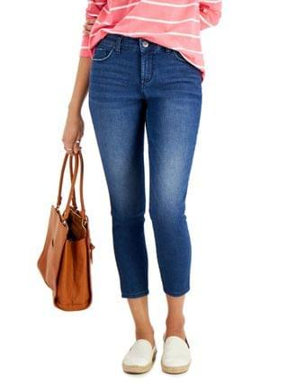 WOMEN Petite Curvy-Fit Mid-Rise Skinny Ankle Jeans Created for Macy's