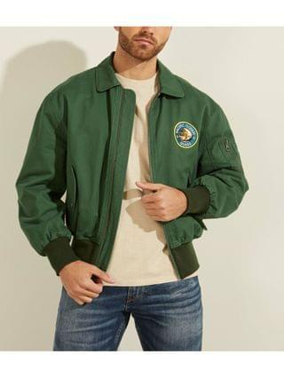MEN Coated Twill Bomber Jacket