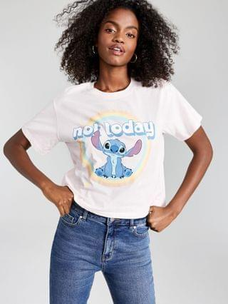 WOMEN Juniors' Cotton Not Today Stitch-Graphic T-Shirt