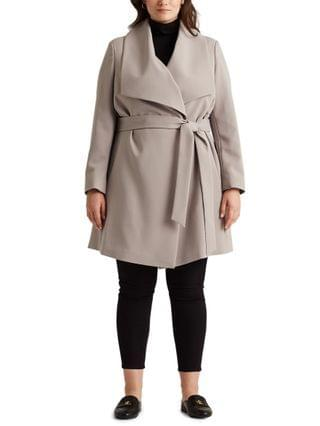 WOMEN Plus-Size Belted Wrap Coat