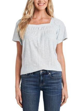 WOMEN Printed Square-Neck Top