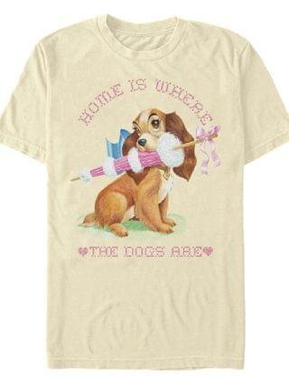 MEN Lady and the Tramp Home Dog Short Sleeve T-shirt
