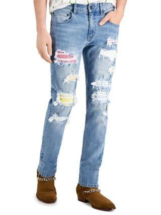MEN INC Men's Ripped Skinny Jeans Created for Macy's