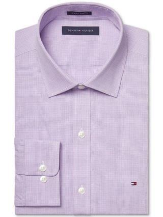 MEN Slim-Fit Stretch Check Dress Shirt Online Exclusive Created for Macy's