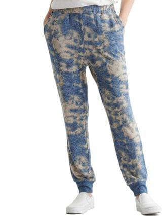WOMEN Tie-Dyed Pull-On Easy Jogger Pants