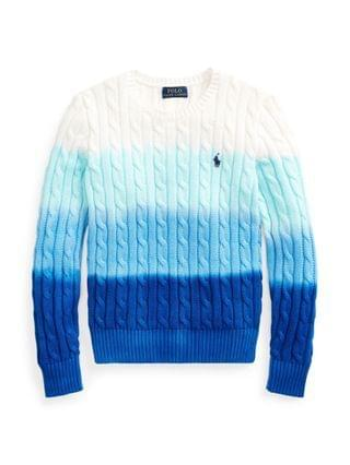 KIDS Big Girls Dip-Dyed Cable-Knit Sweater