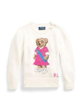 KIDS Little Girls Polo Bear Sweater