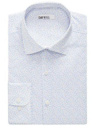 MEN Slim-Fit Performance Stretch Scattered Dot-Print Dress Shirt Created for Macy's
