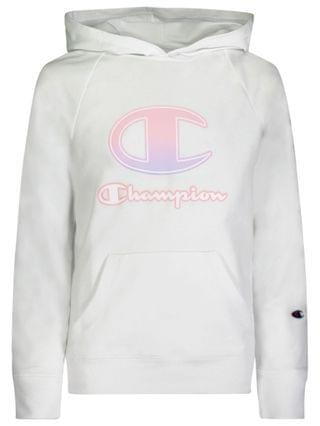 "KIDS Little Girls Ombre ""C"" Script French Terry Hoodie"