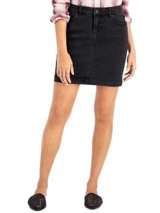 WOMEN Petite Washed Black Denim Skirt Created for Macy's