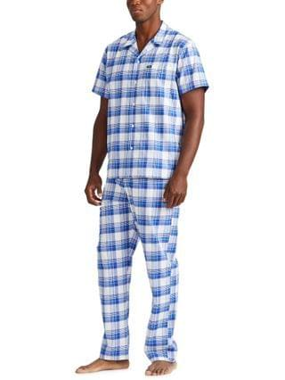MEN Plaid Pajama Top