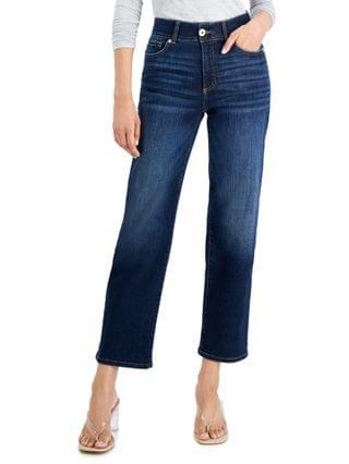 WOMEN INC Sculpting-Fit Straight-Leg Ankle Jeans Created for Macy's