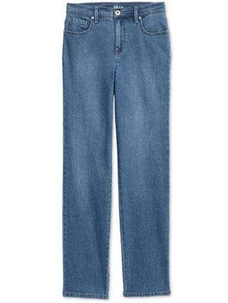 WOMEN Petite Natural Straight-Leg Jeans in Petite & Petite Short, Created for Macy's