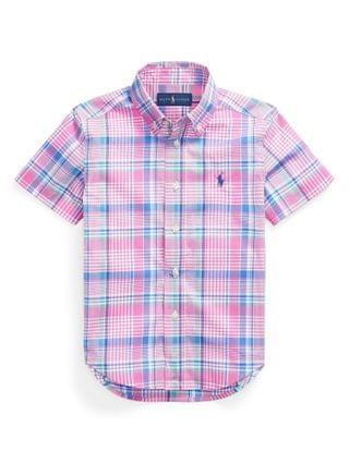 KIDS Little Boys Plaid Cotton Poplin Shirt
