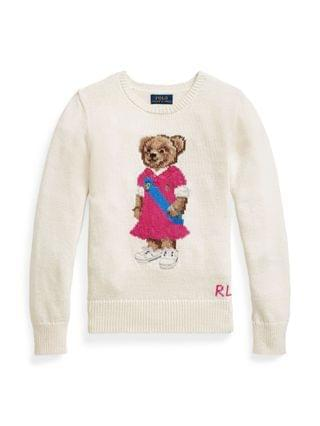 KIDS Big Girls Polo Bear Sweater