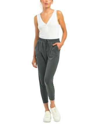 WOMEN Petite Basic Cupro Jogger Pants