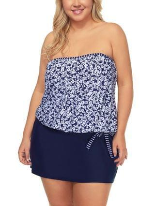 WOMEN Trendy Plus Size Love Song Coral Gables Underwire Tankini Top & Swim Bottoms Created for Macy's