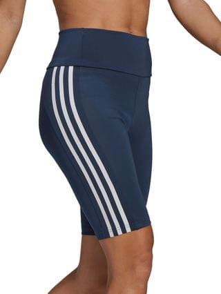 WOMEN Designed To Move High-Rise 3 Stripes Bike Shorts
