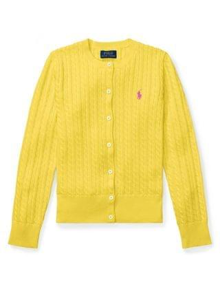 KIDS Big Girls Mini Cable Cardigan